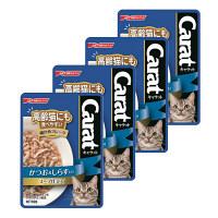Carat(キャラット) キャットフード パウチ 高齢猫にも食べやすい細かめフレーク かつお&しらす入り スープ仕立て 60g 1セット(4袋)
