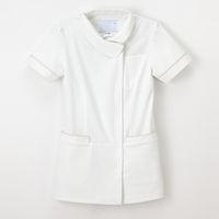 ナガイレーベン 女子上衣 ナースジャケット 医療白衣 半袖 オフホワイト L LH-6222(取寄品)