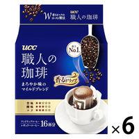 【ドリップコーヒー】UCC上島珈琲 職人の珈琲ドリップコーヒーマイルドブレンド 1セット(6パック×18袋入)