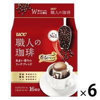 【ドリップコーヒー】UCC上島珈琲 職人の珈琲ドリップコーヒーモカブレンド 1セット(6パック×18袋入)
