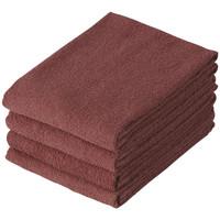 テンダイ 美容室の業務用スレン染めタオル ブラウン 1パック(4枚)