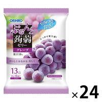 ぷるんと蒟蒻ゼリー パウチタイプ グレープ味 24袋セット オリヒロ 栄養補助ゼリー
