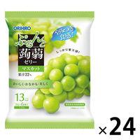 ぷるんと蒟蒻ゼリー パウチタイプ マスカット味 24袋セット オリヒロ 栄養補助ゼリー