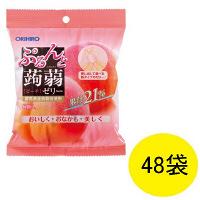 ぷるんと蒟蒻ゼリー パウチタイプ ピーチ味 1ケース(48袋) オリヒロ 栄養補助ゼリー
