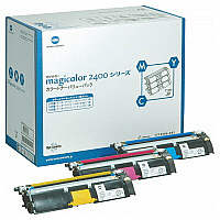 コニカミノルタ レーザートナーカートリッジ magicolor2400/2500トナーカートリッジシリーズ 1パック(3色入) 1710595-002