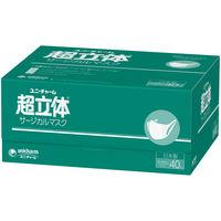 サージカルマスク 超立体タイプ 大きめ 1箱(40枚入) ユニ・チャーム 大きめ 日本製
