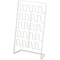 山崎実業 スリムスリッパラック 10足用 ホワイト 1台