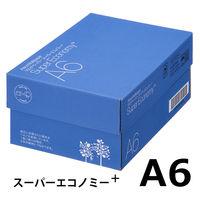 コピー用紙 マルチペーパー スーパーエコノミー+ A6 1箱(6000枚:500枚入×12冊) 高白色 アスクル