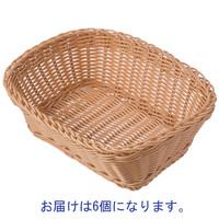 シービージャパン 洗えるバスケット レクタングルM 1セット(6個)