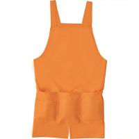ファーストレイト カラーエプロン(センターベンツ) オレンジ フリー FR-5807 1枚