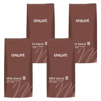 【コーヒー豆】ユニカフェ ホールビーンズ マイルドブレンド 1セット(500g×4袋)