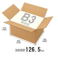 【底面B3】 無地ダンボール箱 B3×高さ335mm 1梱包(10枚入)