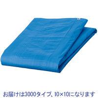 「現場のチカラ」 ブルーシート 厚手(#3000タイプ) 10.0×10.0 アルミハトメ