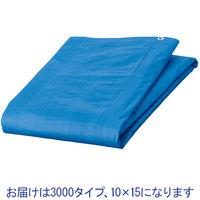 「現場のチカラ」 ブルーシート 厚手(#3000タイプ) 10.0×15.0 アルミハトメ