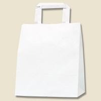 HEIKO/シモジマ 手提げ紙袋 Hフラットチャームバッグ 220-2 白無地 1袋(50枚入)