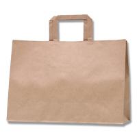 HEIKO/シモジマ 手提げ紙袋 Hフラットチャームバッグ 340-1 未晒無地 1袋(50枚入)