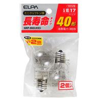 朝日電器 長寿命ミニクリプトン球 クリア40形 GKP-362LH(C) 1パック(2個入)