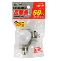 朝日電器 長寿命ミニクリプトン球 ホワイト60形 GKP-542LH(W) 1パック(2個入)