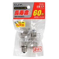 朝日電器 長寿命ミニクリプトン球 クリア60形 GKP-542LH(C) 1パック(2個入)