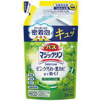 バスマジックリン 泡立ちスプレー スーパークリーン グリーンハーブの香り 詰替え 1個 347206 花王