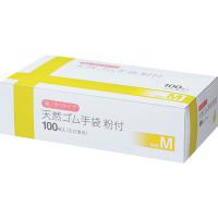 伊藤忠リーテイルリンク 天然ゴム粉付手袋 M 55657 個 (使い捨て手袋)