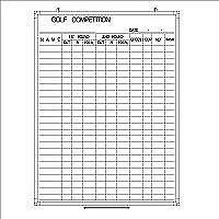 日学 樹脂枠ホワイトボード 1200×900 GOLF COMPETITION表 RC-12-040 (直送品)