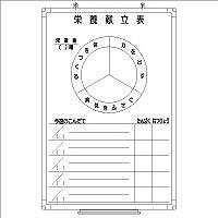 日商 樹脂枠ホワイトボード 900×600 栄養献立表 RC-13-042 (直送品)