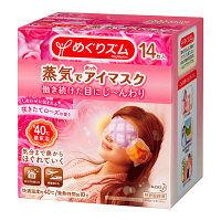 めぐりズム蒸気でホットアイマスク 咲きたてローズの香り 1ケース(14枚入×12箱) 花王