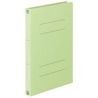 フラットファイル厚とじ A4タテ 120冊 グリーン アスクル