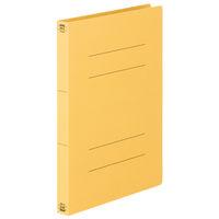 フラットファイル厚とじ A4タテ 120冊 イエロー アスクル