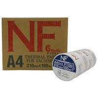 三菱製紙 FSC FAX用紙高感度感熱ロール A4 幅210mm×長さ100m×芯径1インチ 1箱(6本入)