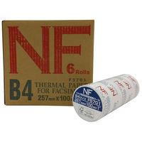 三菱製紙 FSC FAX用紙高感度感熱ロール B4 幅257mm×長さ100m×芯径1インチ 1箱(6本入)