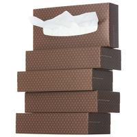 ティッシュペーパー 200組 (5箱入)×12パック オリジナルティッシュ MOCHA (モカ) 1color 1ケース(60箱入) アスクル