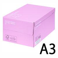コピー用紙 リサイクルペーパー FSC認証 + 古紙30% A3 1箱(2500枚:500枚入×5冊) アスクル