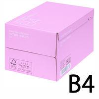 コピー用紙 リサイクルペーパー FSC認証 + 古紙30% B4 1箱(2500枚:500枚入×5冊) アスクル