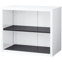 Ceha 深型スチール収納庫 2段 上置き用 オープン ホワイト 幅880×奥行500×高さ730mm 1台(2梱包)