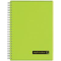 マルマン ツインリングノート セプトクルール A5 A罫7mm グリーン N572-03 3冊