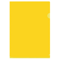 プラス カラークリアホルダー A4 濃色イエロー 黄色 1袋(10枚) ファイル 89803