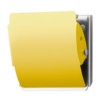 プラス ホールドラバー付カラーマグネットクリップ イエロー L 80405 1箱(10個入)