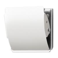 プラス ホールドラバー付カラーマグネットクリップ ホワイト L 1箱(10個入)