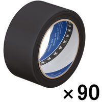 寺岡製作所 P-カットテープ 4140 強粘着 黒 幅50mm×25m巻 1セット(90巻:30巻入×3箱)