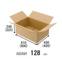 【140サイズ】「現場のチカラ」無地ダンボール Cライナー No.A3 外寸:幅610×奥行430×高さ240mm 1セット(120枚:20枚×6)