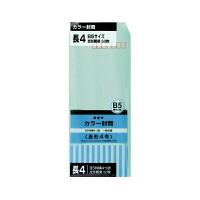 オキナ カラー封筒 長4 グリーン 50枚 HPN4GN (直送品)