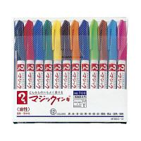 油性ペン マジックインキNo.700 極細 12色セット 寺西化学工業 M700C-12(直送品)