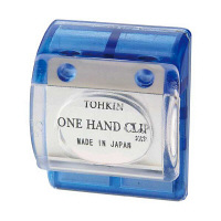 トーキンコーポレーション ワンハンドクリップ 青色 OC-B (直送品)