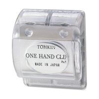 トーキンコーポレーション ワンハンドクリップ 透明 OC-C (直送品)