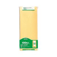 マルアイ 事務用封筒 PN-128 長2 100枚 クラフト 郵便番号枠なし 接着テープ無 (直送品)