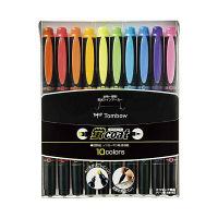 トンボ鉛筆 蛍コート 10色セット WA-TC10C (直送品)