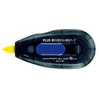 プラス 裏から見えない修正テープ5mm本体 ブルー WH-015P (直送品)