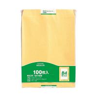 マルアイ 事務用封筒 PK-108 角0 100枚 クラフト 郵便番号枠なし 接着テープ無 (直送品)